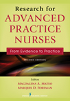 Book cover - Research for Advanced Practice Nurses | 9780826137258