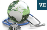 Globe with stethoscope - DNP Essential Element 7: Clinical Prevention and Population Health for Improving the Nation's Health